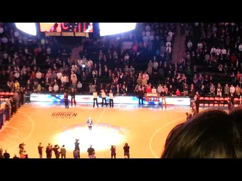 Our National Anthem,  Knicks game 4/17/2013