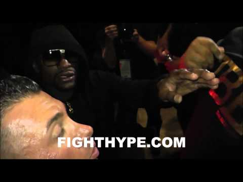 AFTER THE MAYHEM PART 2 FLOYD MAYWEATHER MOBBED BY FANS AFTER VICTORY OVER MAIDANA