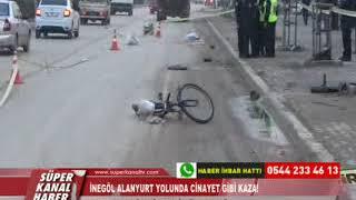 İNEGÖL ALANYURT YOLUNDA CİNAYET GİBİ KAZA!