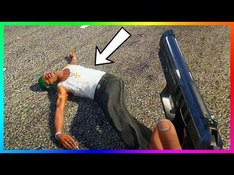"TOP 5 BEST ""CJ"" Carl Johnson Easter Eggs & San Andreas References In GTA 5! (GTA V)"