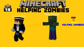 Minecraft | Helping Zombies | Minecraft | Dark Magic | 1.9 Command block Creation Showcase