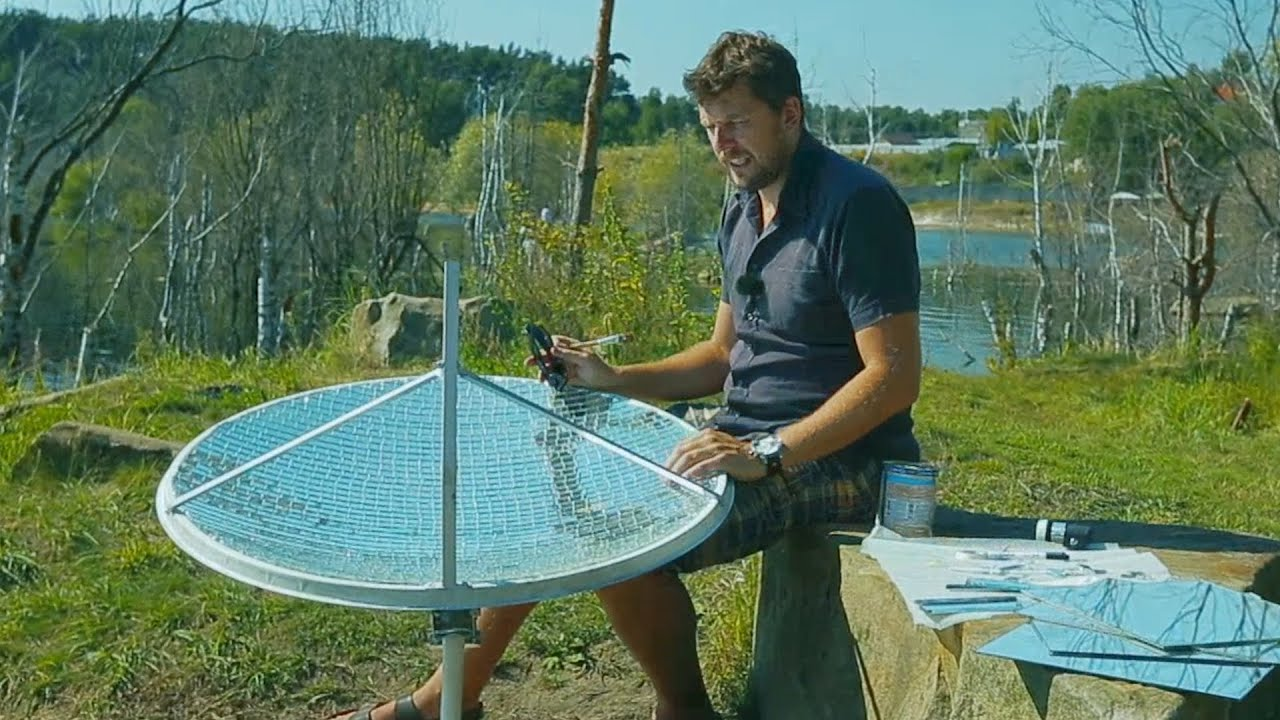 Видео солнечная печка своими руками