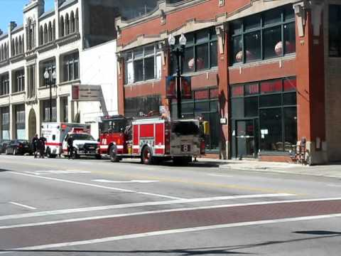 Chicago Fire Department Engine 8 & Ambulance 57 on Scene Video