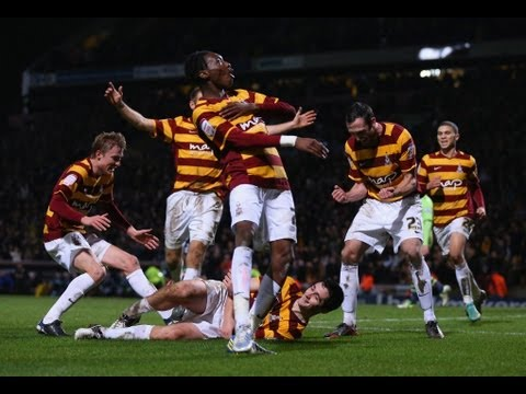 Bradford 3-1 Aston Villa - Bantams half way to Wembley