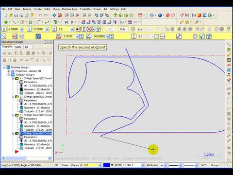 TFM - Dynamic Open Pocket in Mastercam X5