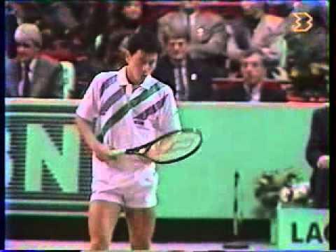 マイケル チャン vs マッケンロー - Paris 1989 - 01/10