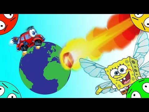 🐾 Машинка Вилли и Губка Боб #7! Спасение планеты! Мультик Игра. Мультфильм для детишек.