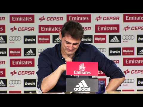 Iker Casillas breaks down in tears during final Real Madrid Press Conference