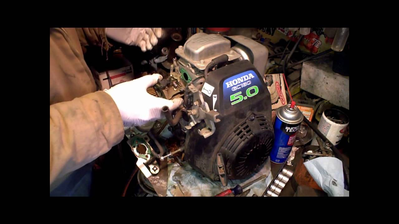 Honda gc160 gc190 carb rebuild gcv160 PART 1 of 2 - YouTube
