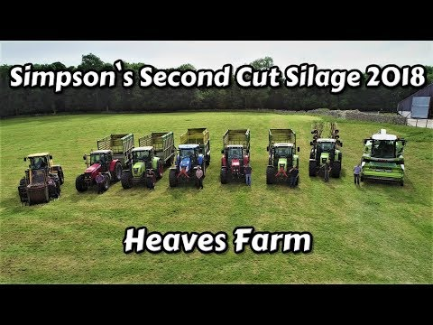 Second Cut Silage 2018 | Grass Fields To Clamp | Under 24 Hours