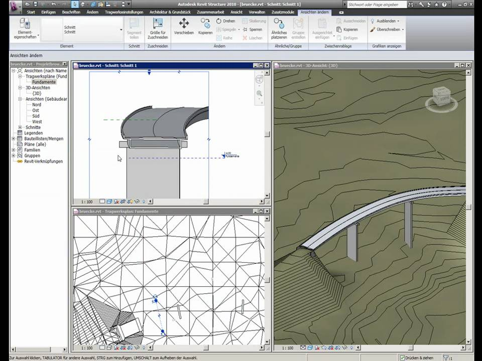 how to draw a bridge in revit