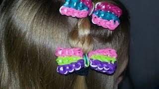 RAINBOW LOOM HAIR BOW *NEW* - How to make