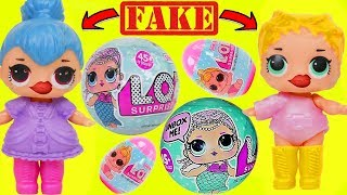 FAKE LOL Surprise Dolls + Lil Sisters Babysitter at Nursery Baby School for Giant Surprise