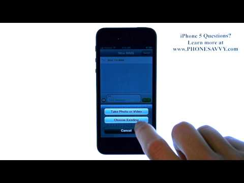 Apple iPhone 5 - iOS 6 - How do I Send a Picture Message