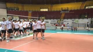 A1M: Il saluto finale dopo l'allenamento con Cantù