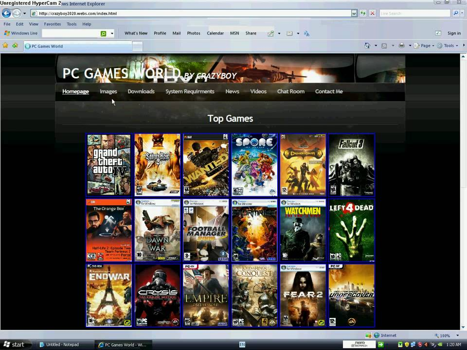 youtube free games download pc