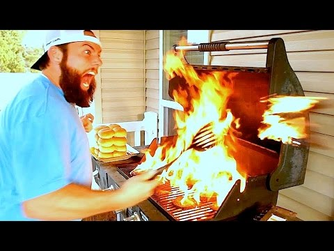 EXPLODING BARBECUE BURGERS!