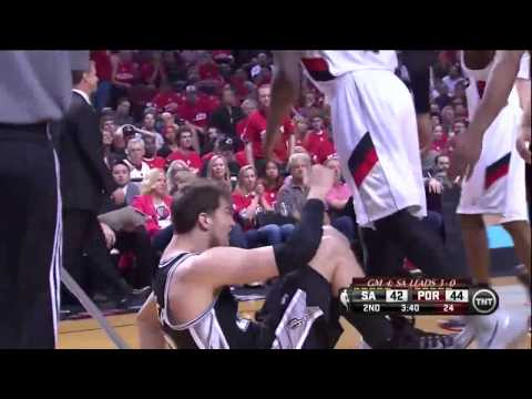 NBA, playoff 2014, Spurs vs. Trail Blazers, Round 2, Game 4, Move 25, Kawhi Leonard, assist