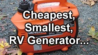 Cheapest, Smallest RV Generator:  Generac ix800