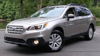 2015/2016 Subaru Outback 2.5i Premium Start Up, Road Test, and In Depth Review