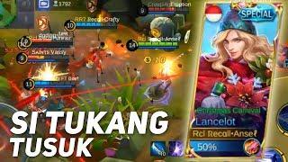 MAKE SKIN GANTENG, AUTO GANTENG MAINNYA WKWK   MOBILE LEGENDS INDONESIA (New Skin Lancelot Gameplay)