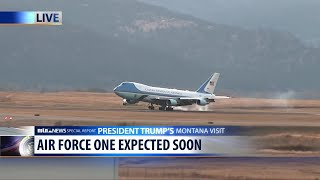 WATCH: Air Force One lands in Missoula