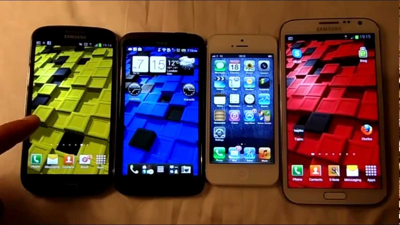 Comparison Galaxy s3 And Iphone 5 Galaxy Note 2 vs Iphone 5