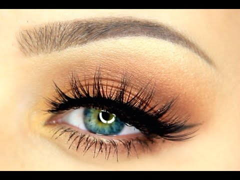 how to put on false eyelashes for beginners