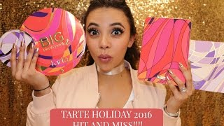 TARTE HOLIDAY COLLECTION 2016 | REVIEW & SWATCHES