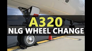 Airbus A320 Nose Landing Gear Wheel Removal / Installation