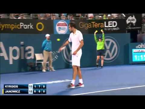 ATP Sydney 2015 R1 -  Janowicz vs Kyrgios (FULL)