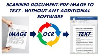 How to Convert Scanned Image to Editable Text without using any software