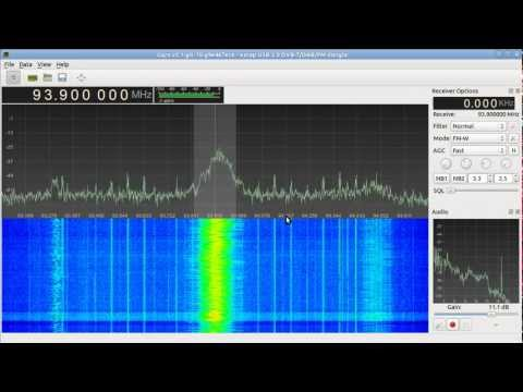 Gqrx receiving broadcast FM using RTL-SDR and Funcube Dongle