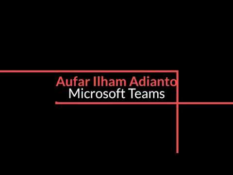 Tutorial Penggunaan Microsoft Teams - Office 365