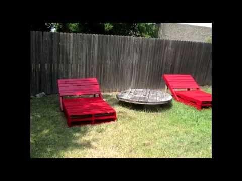 Как сделать лежак на даче