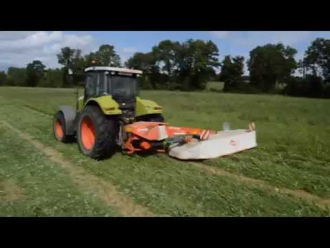 Fauchage 2014 / Claas ares 697 & Kuhn GMD 3510