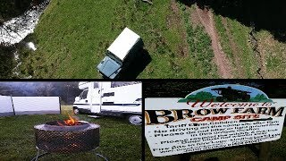 Camping UK , fire pits , abandoned land rover, DJI Spark