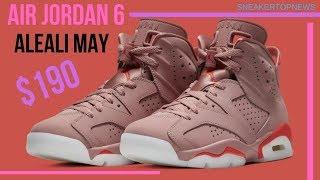 The Aleali May x Air Jordan 6 Millennial Pink rumored for a Spring 2019 drop |  jordan 6 infrared