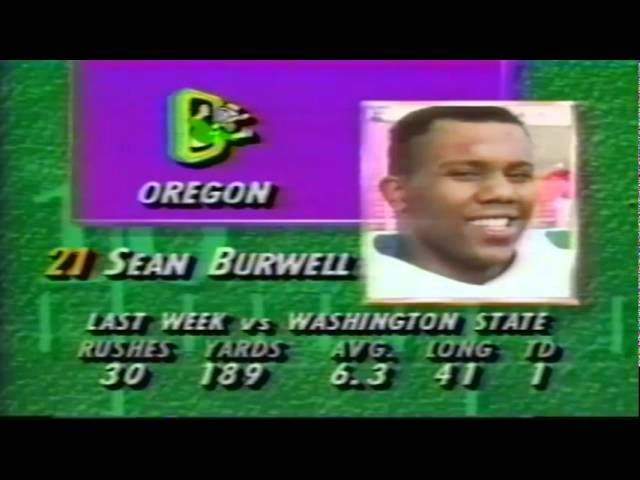 Pregame show for Oregon vs. texas Tech 9-14-1991