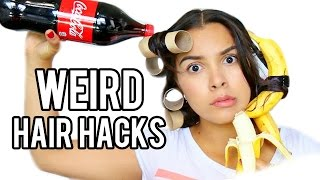 10 WEIRD Hair Hacks that Actually Work!