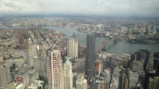Stunning view from One World Observatory / One World Trade Center / New York