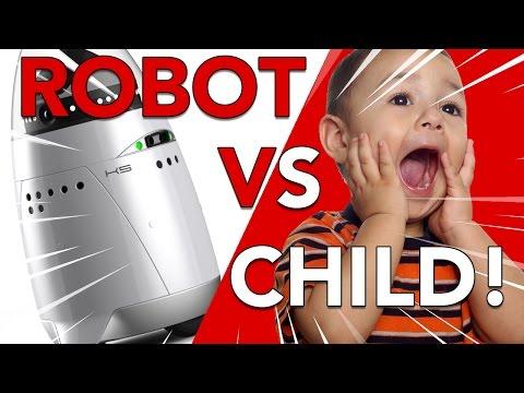 Mall Robocop Runs Over Toddler