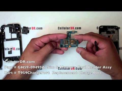 Samsung SGH-T959v Repair Video Tmobile Galaxy S 4G Disassembly Take Apart