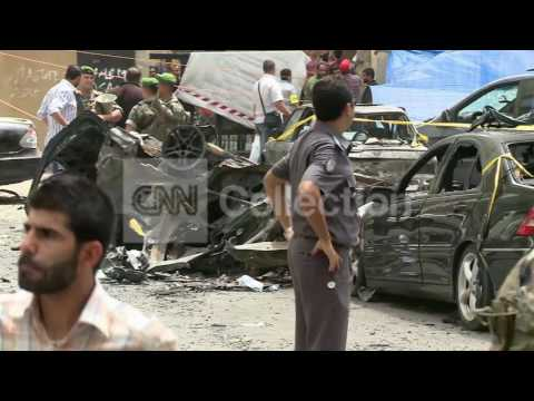 LEBANON:CAR BOMB AFTERMATH