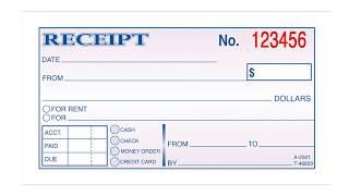 Rent Payment Receipt: Property Management Forms