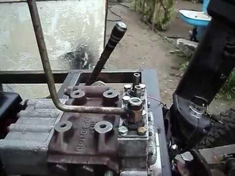 Трактор на гидромоторе самодельный