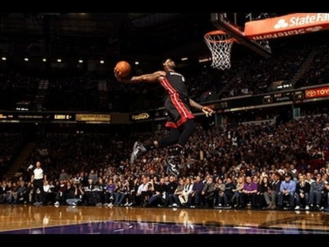 Mario Chalmers Throws the Backwards Pass for the LeBron Windmill!