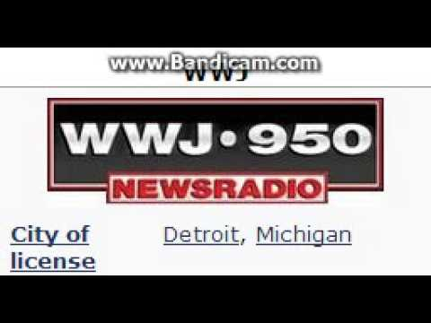 WWJ NewsRadio 950 ID and TOTH at 9:00 p.m. for 4/5/14