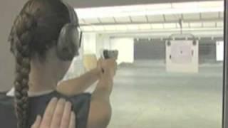 Lisa Marcos at the Gun Range