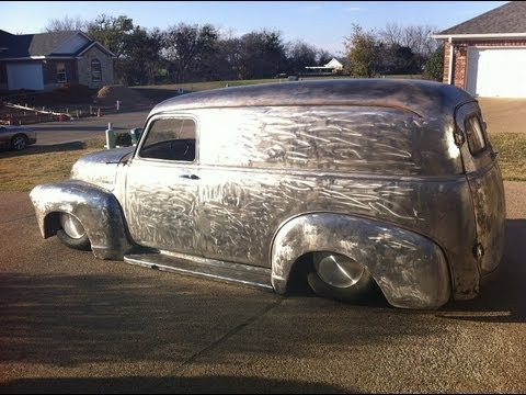 Bare Metal 1955 Chevy Panel Truck Bagged Youtube